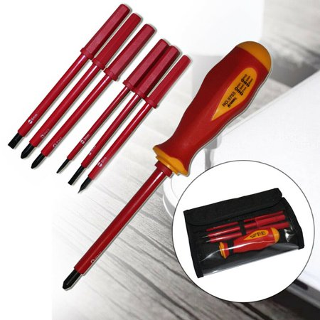 7-Piece 1000v Insulated Screwdriver Set, Magnetic Tip Electrician screwdriver Set (Insulated Screwdriver