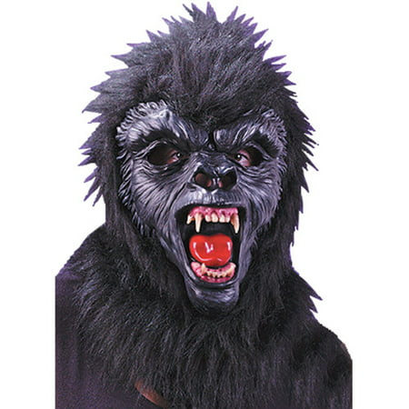 Deluxe Gorilla Mask with Teeth Adult Halloween Accessory
