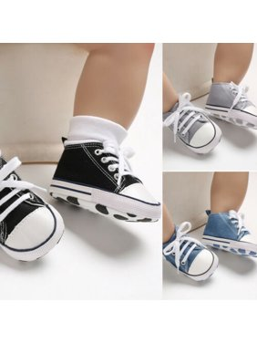 New Baby Toddler Boys Girls Crib Shoes Tennis Canvas Shoes Kids Skater Sneakers