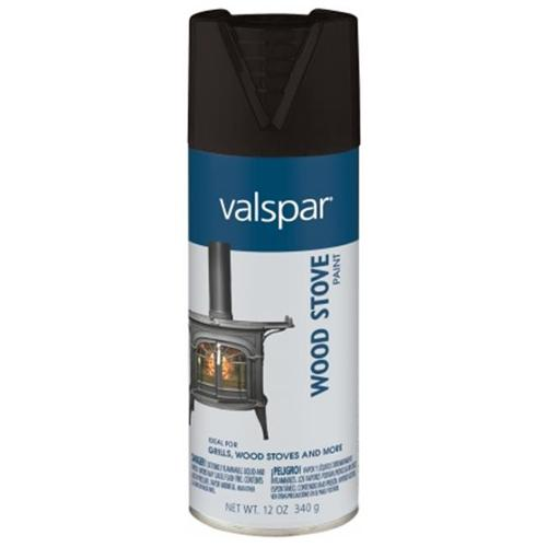 Valspar Brand 465-68005 12 Oz Black Wood Stove Spray Paint - Pack of 6