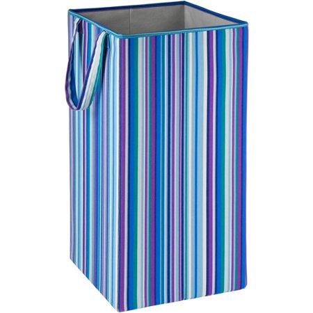 Honey Can Do Rectangular Collapsible Hamper with Handles, Multicolor (Small Hamper)