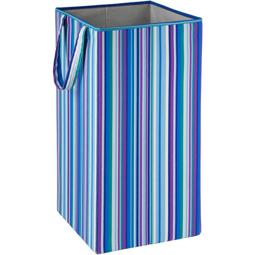 Honey Can Do Rectangular Collapsible Hamper with Handles, Multicolor