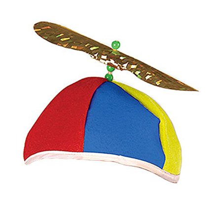 41ba44dfd Beistle - Multi Color Felt Spinning Propeller Clown Beanie Hat ...
