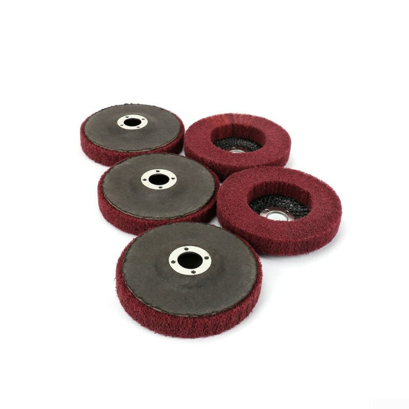 "4\\\/"" 4\\\/"" Abrasive Buffing Fiber Flap Nylon Pad Polishing Wheel 100mm Flap Pad"