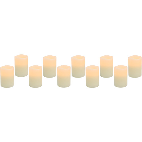 Click here to buy Flameless LED Votive Candles, 10-Pack by Generic.