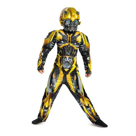 Transformers Bumblebee Muscle Child Halloween Costume](Transformer Costume Diy)