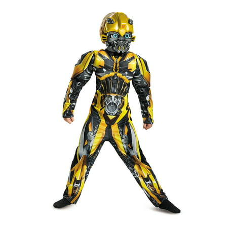 Transformers Bumblebee Muscle Child Halloween Costume - Transformers Costumes For Adults