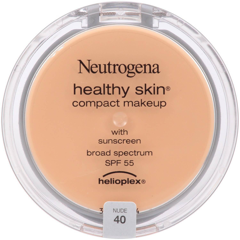 Neutrogena Healthy Skin Compact Makeup Broad Spectrum SPF 55, Nude 40, 0.35 oz
