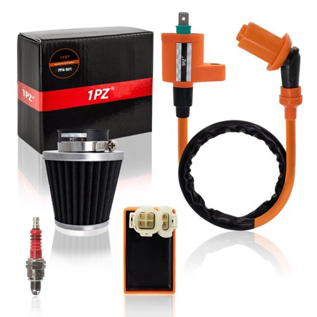 1PZ PF6-S01 Racing Ignition Coil 5 Pins CDI 39mm Air Filter Spark Plug for GY6 4-Stroke Engine 139QMB 152QMI 157QMJ 50cc-150cc Scooter ATV Go Kart Moped Quad Pit Dirt Bike
