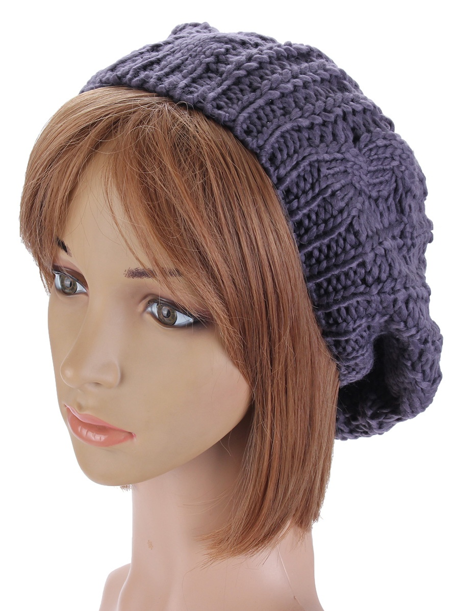 937b2f4471d97 US Fashion Women Winter Warm Beret Cap Braided Baggy Knit Crochet Beanie Hat  Ski - Walmart.com