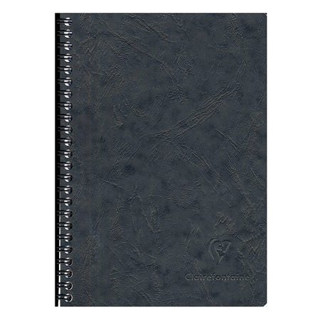 Clairefontaine Clothbound Notebook (Basics Notebooks Wirebound with Pockets, 6 in. x 8 1/4 in., 60 pages (pack of)