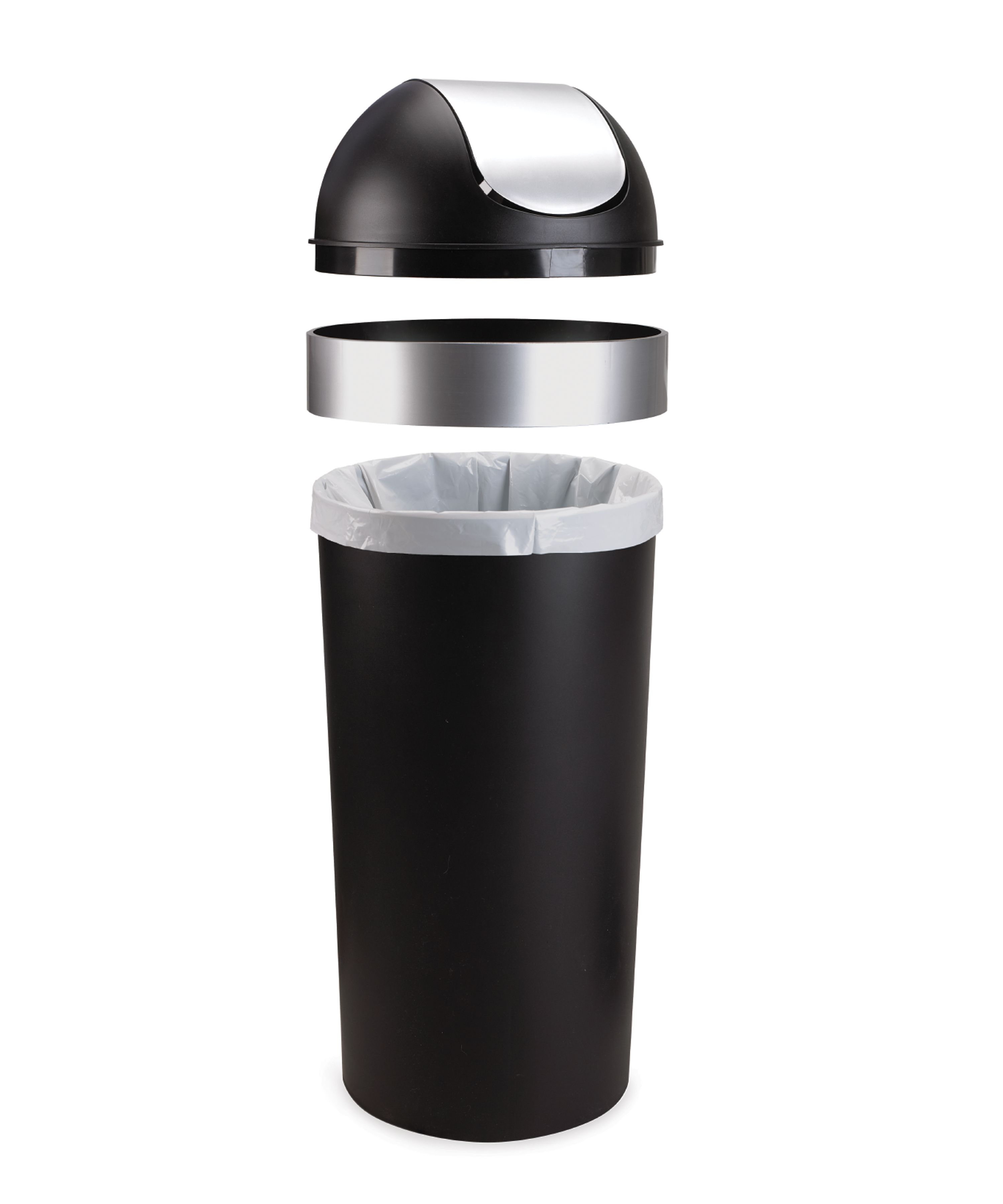 Umbra Venti 16 Gallon Swing Top Kitchen Trash Can Large, 35 Inch