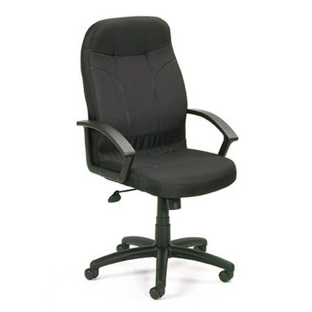Boss Office & Home Black Lumbar Support Executive - Executive Burgundy Leather