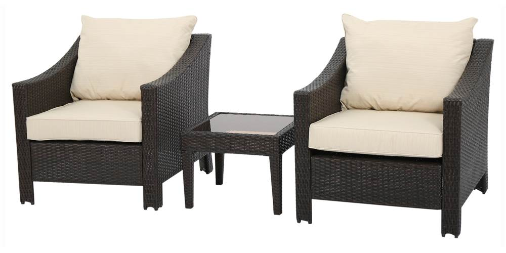 3-Pc Outdoor Chair Set in Brown by Best Selling Home Decor Furniture LLC