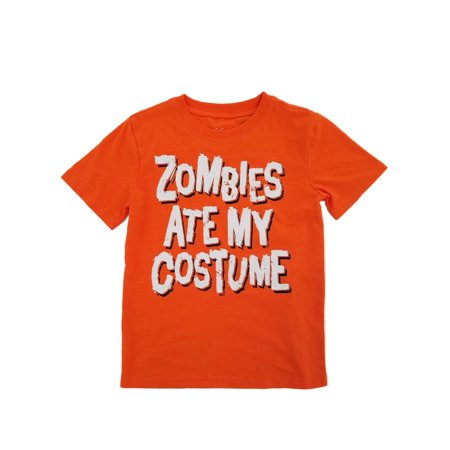 Boys Orange Zombies Ate My Costume Halloween T-Shirt for $<!---->