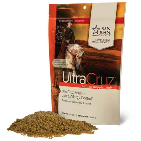 UltraCruz Equine Skin and Allergy Supplement for Horses, 2 lb. Powder (82 Day Supply)