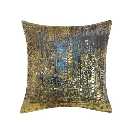- Edie at Home EAH057XXGLMT98 20 x 20 in. Precious Metals Digital Printed Velvet Pillow  Gold & Metallic