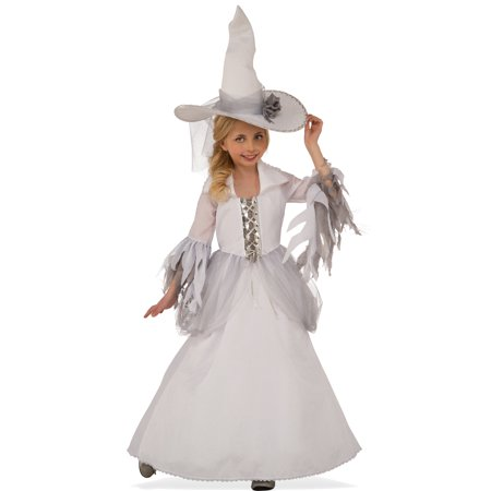 White Good Witch Girls Sorceress Child Classic Halloween - Witch Girl Costume