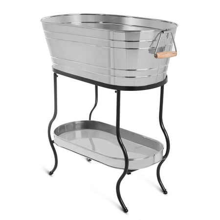 Oval beverage tub w/ tray & stand