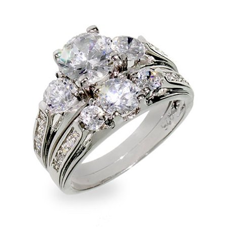 Past Present Future Jewelry Set (Past Present & Future Wedding CZ Ring Set )