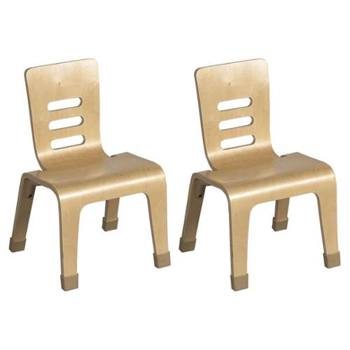 "16"" Bentwood Chairs, Set of 2, Natural"