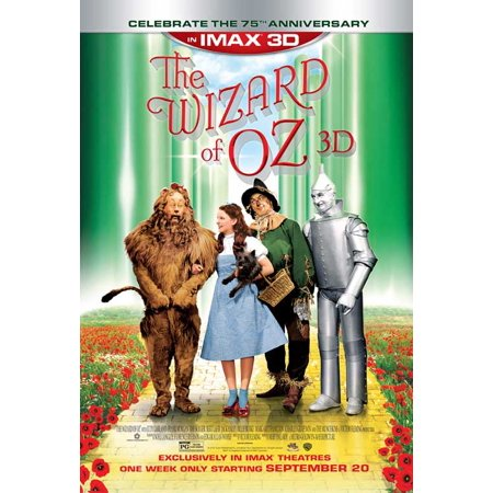 Wizard of Oz IMAX 3D (2013) 11x17 Movie Poster - Halloween Imax