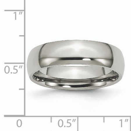 Titanium 6mm Wedding Ring Band Size 13.50 Classic Domed Fashion Jewelry Gifts For Women For Her - image 8 de 11