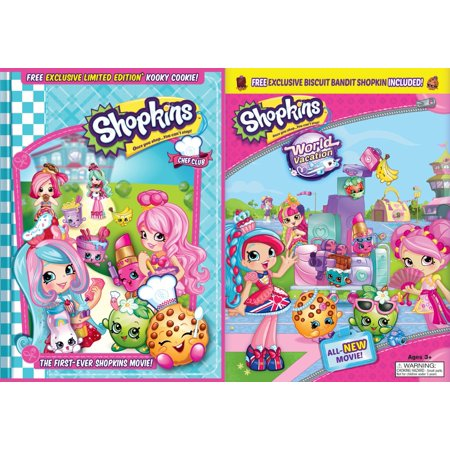 Shopkins World Vacation Chef Club Walmart Exclusive DVD