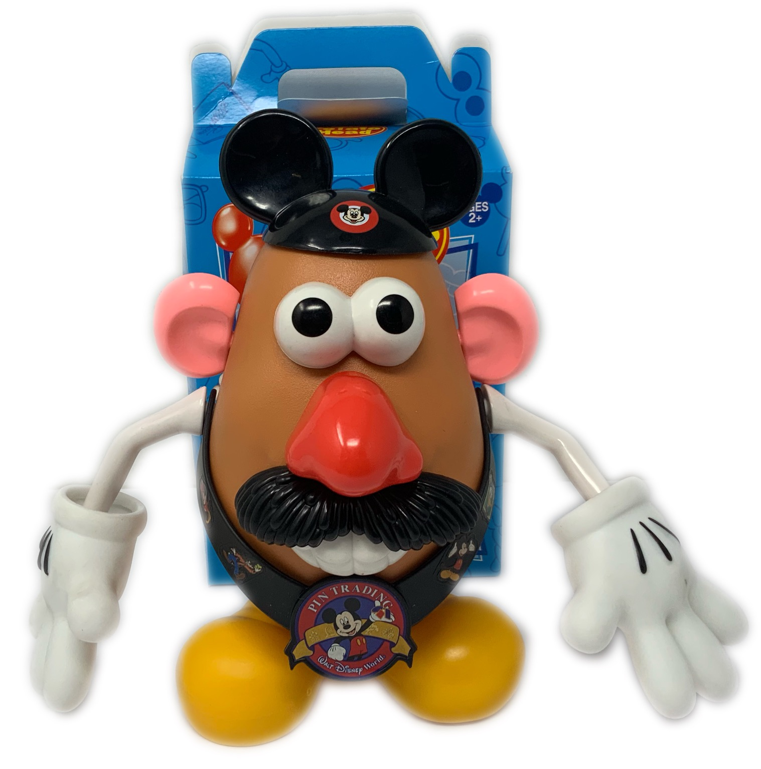 Disney Exclusive Mr Potato Head Mickey Mouse Set Ears Gloves Lanyard Rare!
