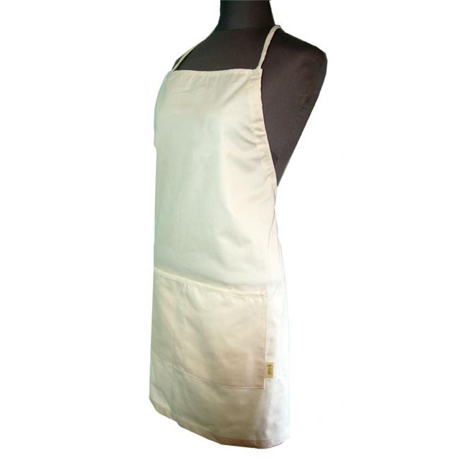 Image of A Greener Kitchen AP012 Mens Organic Cotton Twill Full Apron - Natural
