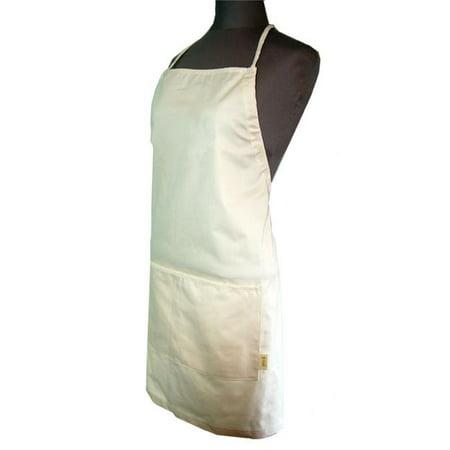 Image of A Greener Kitchen AP012 Mens Organic Cotton Twill Full Apron - Natural