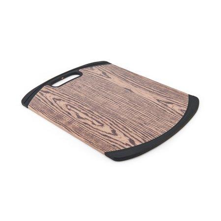 Farberware 11 x 14 Inch Wood Pattern Non Slip Poly Cutting (Pattern Cutting Board)
