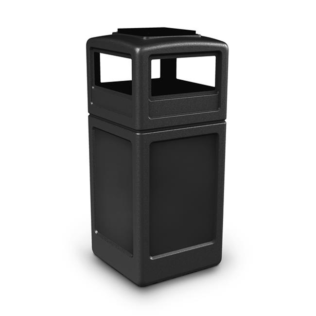 Commercial Zone Products 42-gallon Square Waste Container with Ashtray Dome Lid