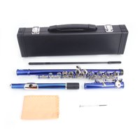 Zimtown 16 Hole C Flute for Student Beginner School Band with Case