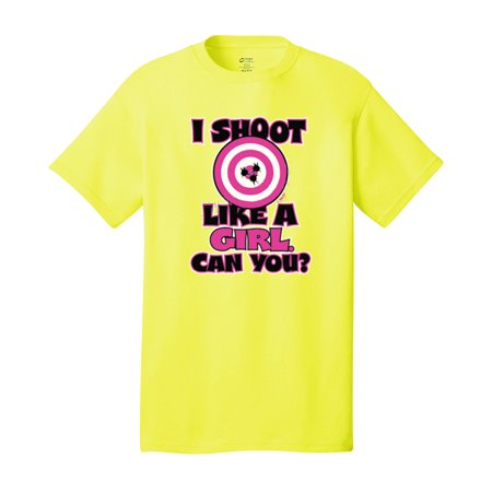 I Shoot Like a Girl - Target Bullseye - Adult T-Shirt - Adult School Girls