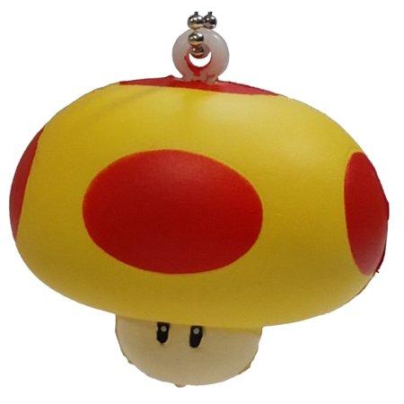 Super Mario Soft-Squeeze Keychain Series 2 Mega Mushroom [No Packaging]