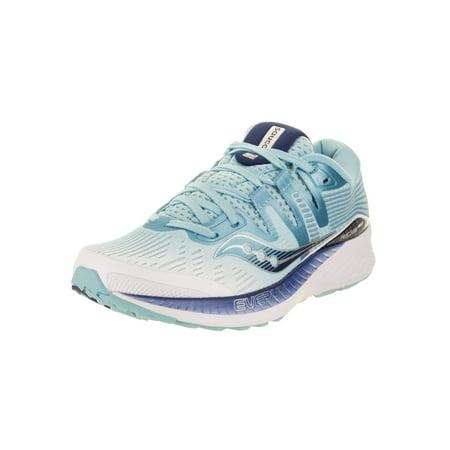 Saucony Womens Omni ISO Running Shoe Sneaker - White/Blue - Size