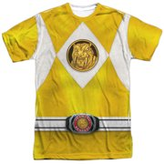 Power Rangers - Yellow Ranger Emblem - Short Sleeve Shirt - XX-Large