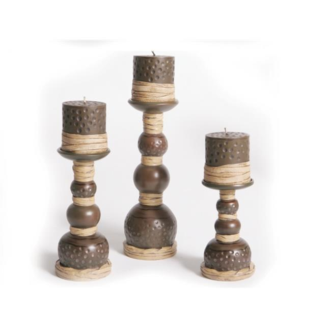 Acadian Candle 9704 Wicker Candle and Holder, 6 Piece