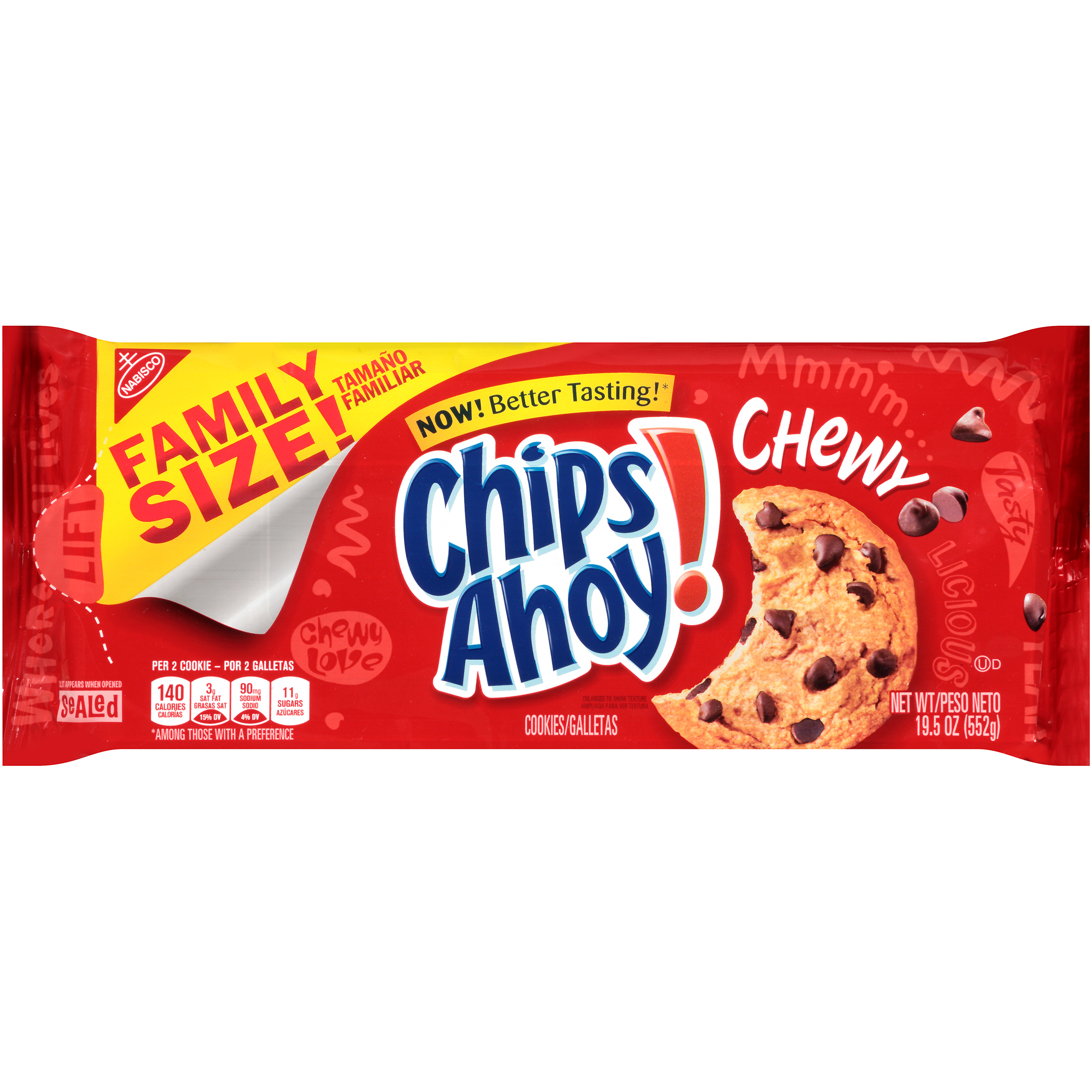 Superb Chips Ahoy Chewy Chocolate Chip Cookies 19 5 Oz Walmart Com Funny Birthday Cards Online Fluifree Goldxyz