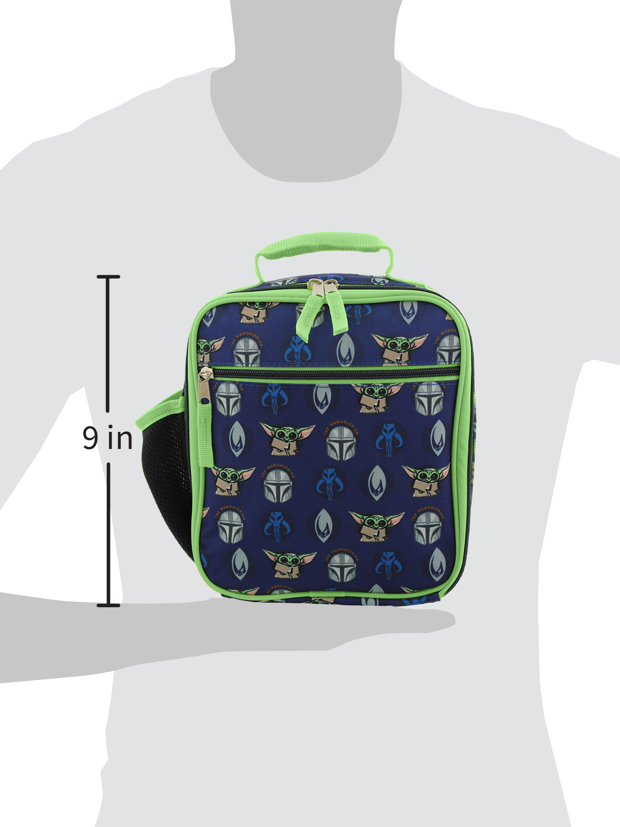 Details about  /Star Wars The Child Baby Yoda LUNCH KIT BOX BAG Insulated Dual Compartment New