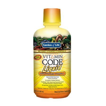 Allergy Multivitamin - Garden of Life Vitamin Code Multivitamin Liquid, Orange Mango, 30 Fl Oz