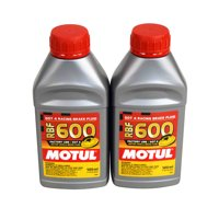 Motul 100949 600 Dot-4 100% Synthetic Racing Brake Fluid Brake Fluid 500ml 2 pck