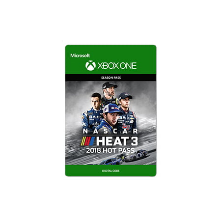 NASCAR Heat 3: 2018 Hot Pass, 704 Games, Xbox, [Digital (Nascar Digital Driver)