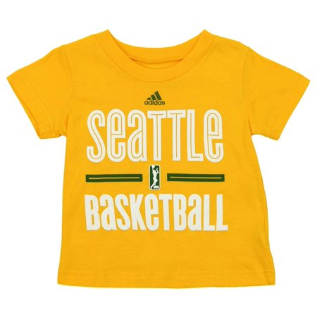 - Adidas WNBA Toddlers Seattle Storm Short Sleeve Go To Tee, Yellow
