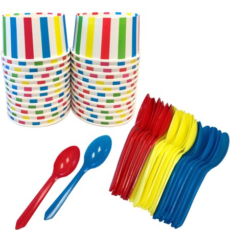 Circus or Lego Theme Striped Ice Cream Kit for 24