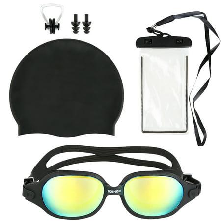 da440ad259f6 Swimming Goggles-Mens Womens Swim Goggles Anti-Fog Swimming Goggles  Leakproof Silicone Frame Swim
