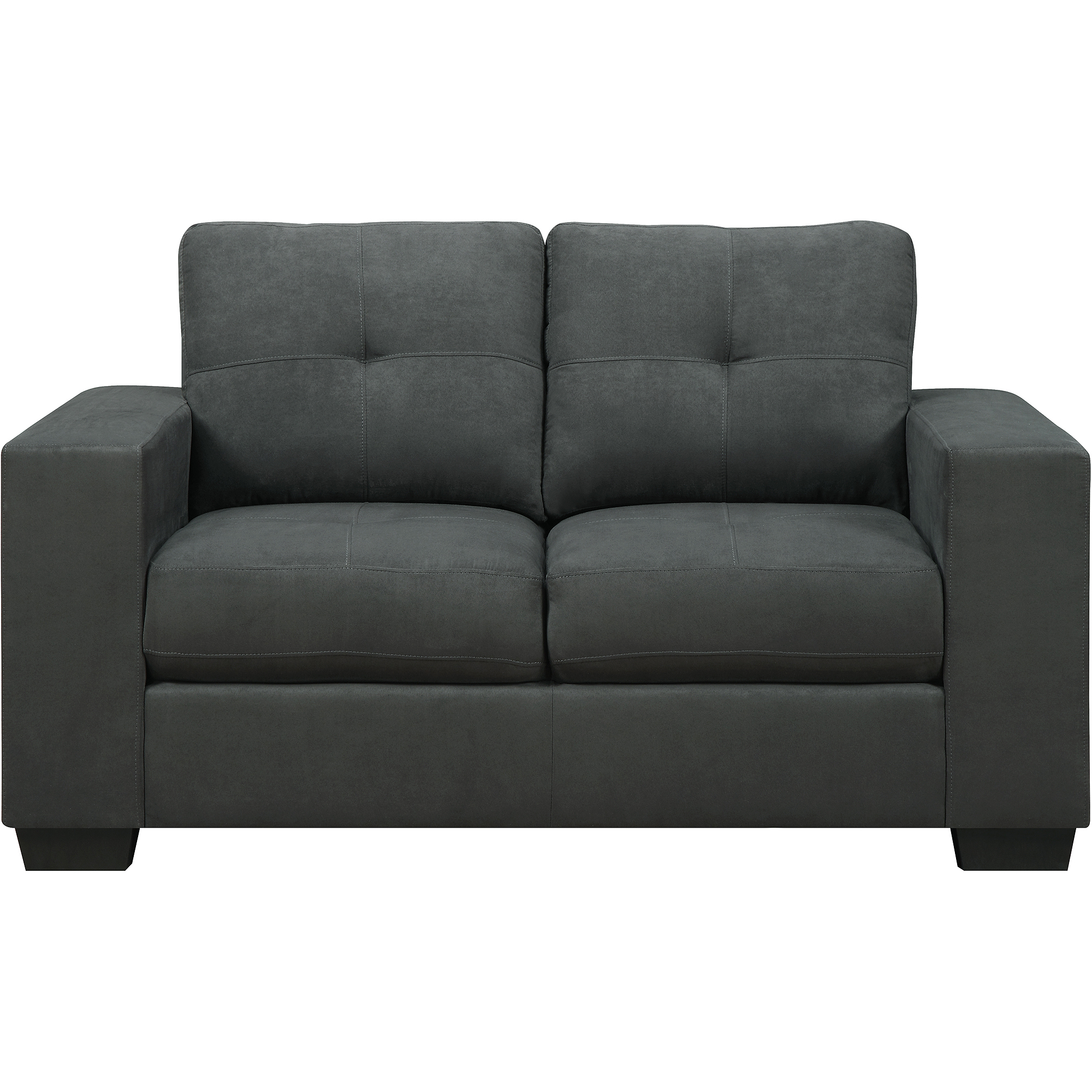 Dorel Home Asher Microfiber Loveseat Gray Walmart