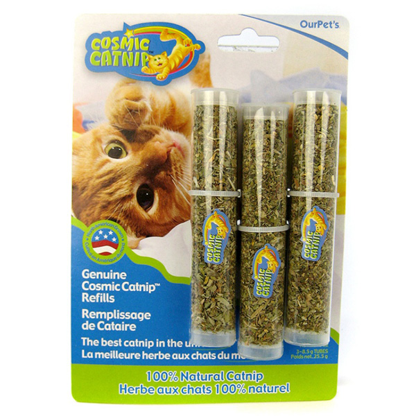 COSMIC Catnip Refill Tubes 3 Pack by Our Pet's Company
