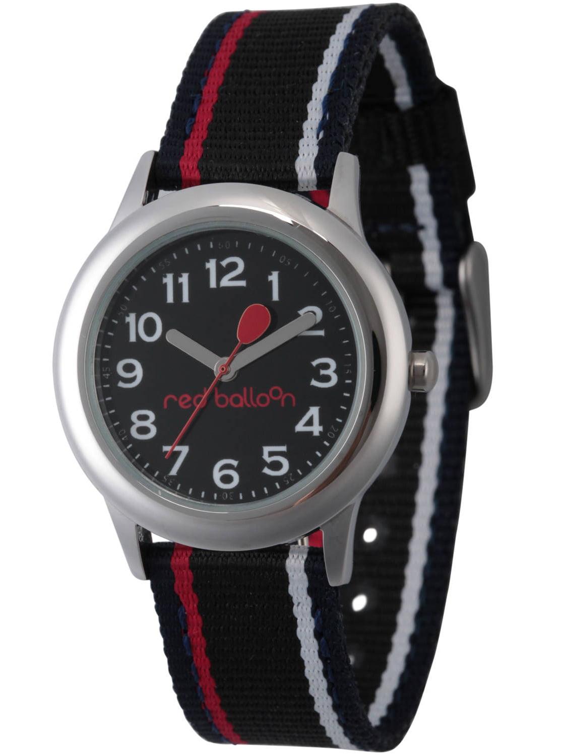 Boys' Stainless Steel Watch, Black Nylon Strap